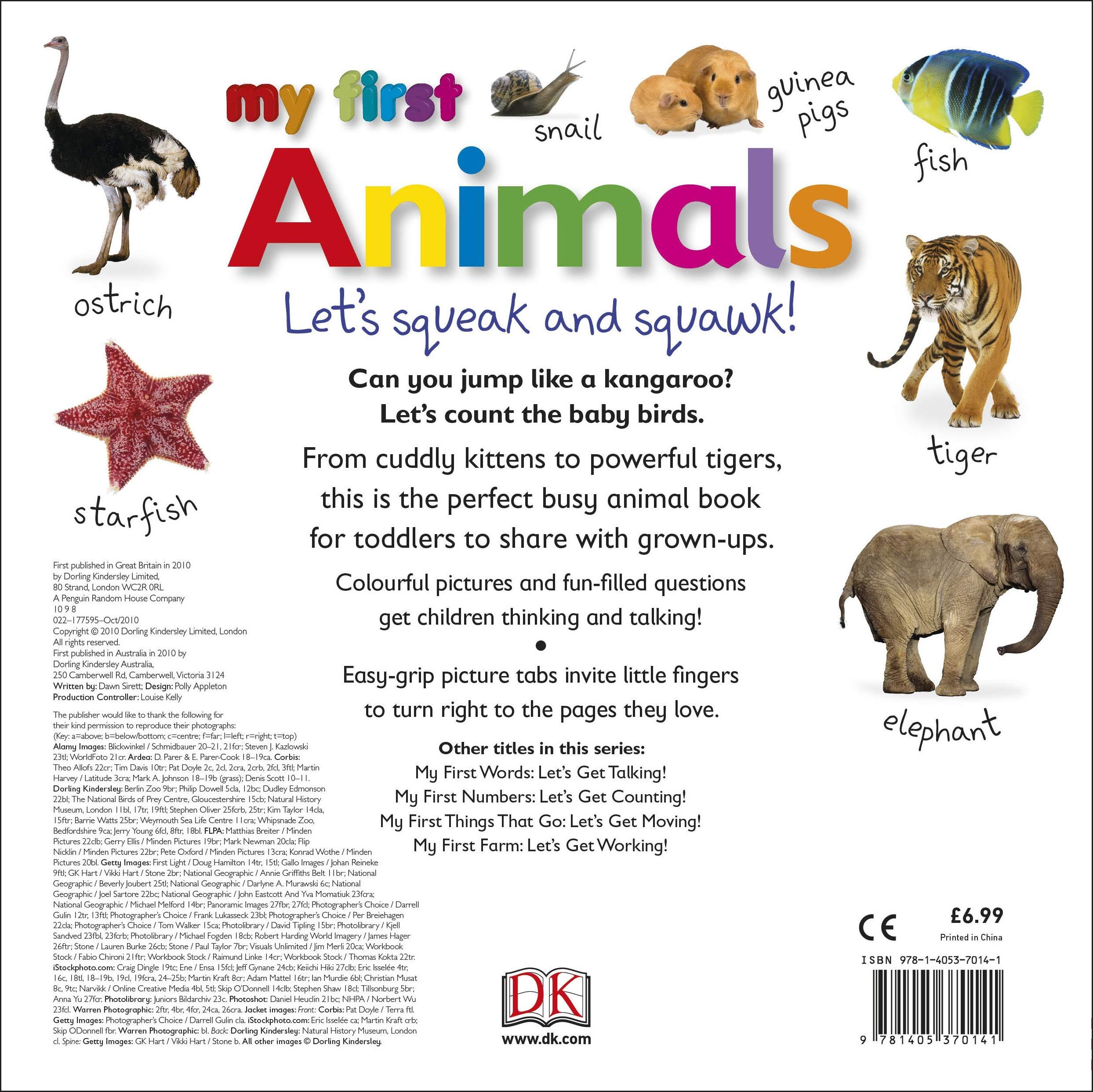 My First Animals Let's Squeak and Squawk: Dawn Sirett ...