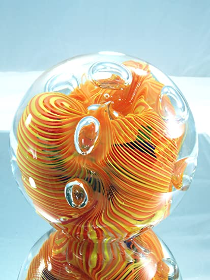 Amazon Com M Design Art Handcraft Xl Mix Flame Rainbow Glass Art