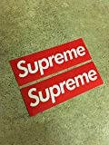 Supreme Skateboard Sticker Red 2 Pack