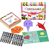Origami Kit - 360 Origami Sheets 6 x 6 Inch Square with 12 Vivid Colors,Same Color on Both Sides,29 Origami Projects…