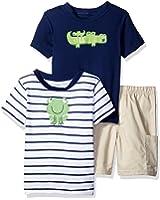 Gerber Boys' 3 Piece Shirt and Short Playwear Set