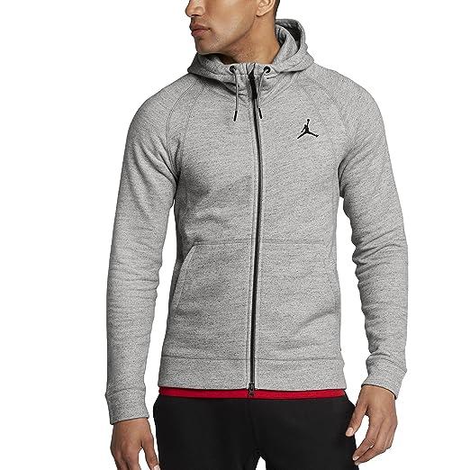 4076f6bbb51d Nike Mens JSW Wings Fleece FZ 860196-063 S - Dk Grey Heather Black at  Amazon Men s Clothing store