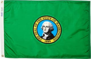 product image for Annin Flagmakers Model 145750 Washington State Flag Nylon SolarGuard NYL-Glo, 2x3 ft, 100% Made in USA to Official United Nations Design Specifications