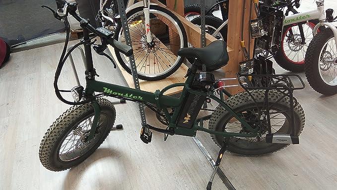 Monster 20 La Pieghevole Bici Elettrica Ruota 20 Motore 500w 48v 12ah Display Led Con 9 Livelli Di Assistenza Telaio In Alluminio A
