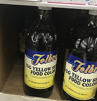 Amazon.com : EGG YELLOW LIQUID FOOD COLORING, 32 FL OZS. ALSO ...