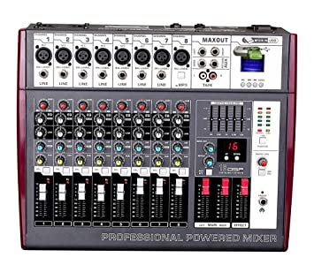 posound Audio 8 CH USB Bluetooth MP3 profesional mezcla Amplificador Mesa de mezclas DJ nueva marca