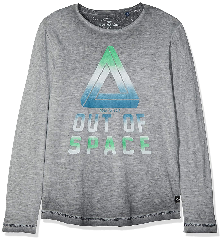 TOM TAILOR Kids Boys T-Shirt Placed Print Long Sleeve Top