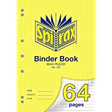 Spirax 120 A4 Binder Book with 8MM Ruling (64 Pages)