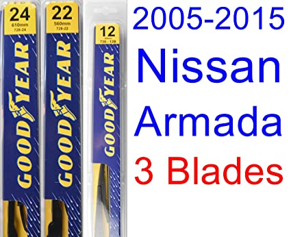 2005-2015 Nissan Armada Replacement Wiper Blade Set/Kit (Set of 3 Blades
