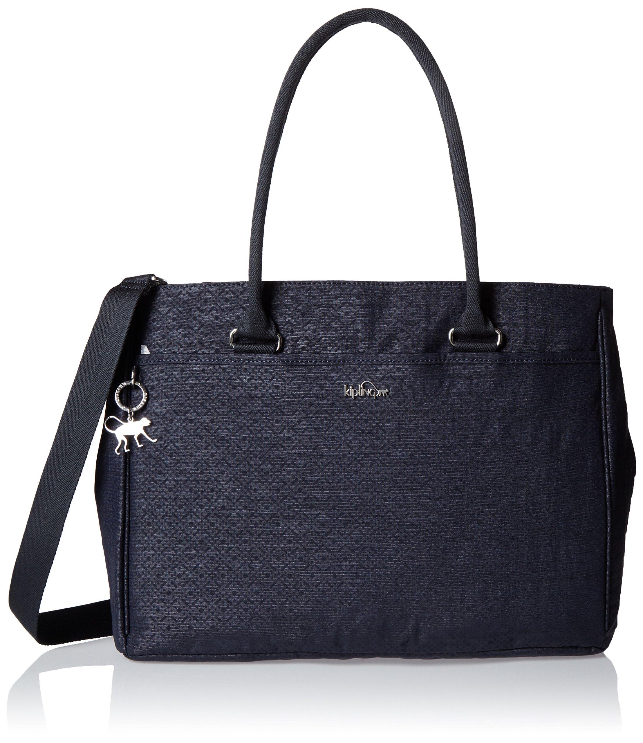 Kipling Womens Artego Laptop Bag Black (Basket Shimmer)