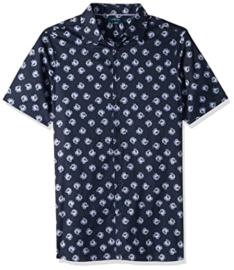 25484b4cfc Amazon.com  Perry Ellis Men s Big and Tall Short Sleeve Cluttered Rose Shirt   Clothing