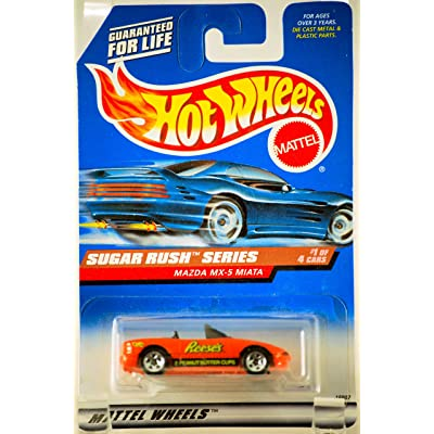 Hot Wheels 1997 Sugar Rush Series Mazda MX-5 Miata Convertible 1/4 (Reese's Peanut Butter Cups Graphics): Toys & Games
