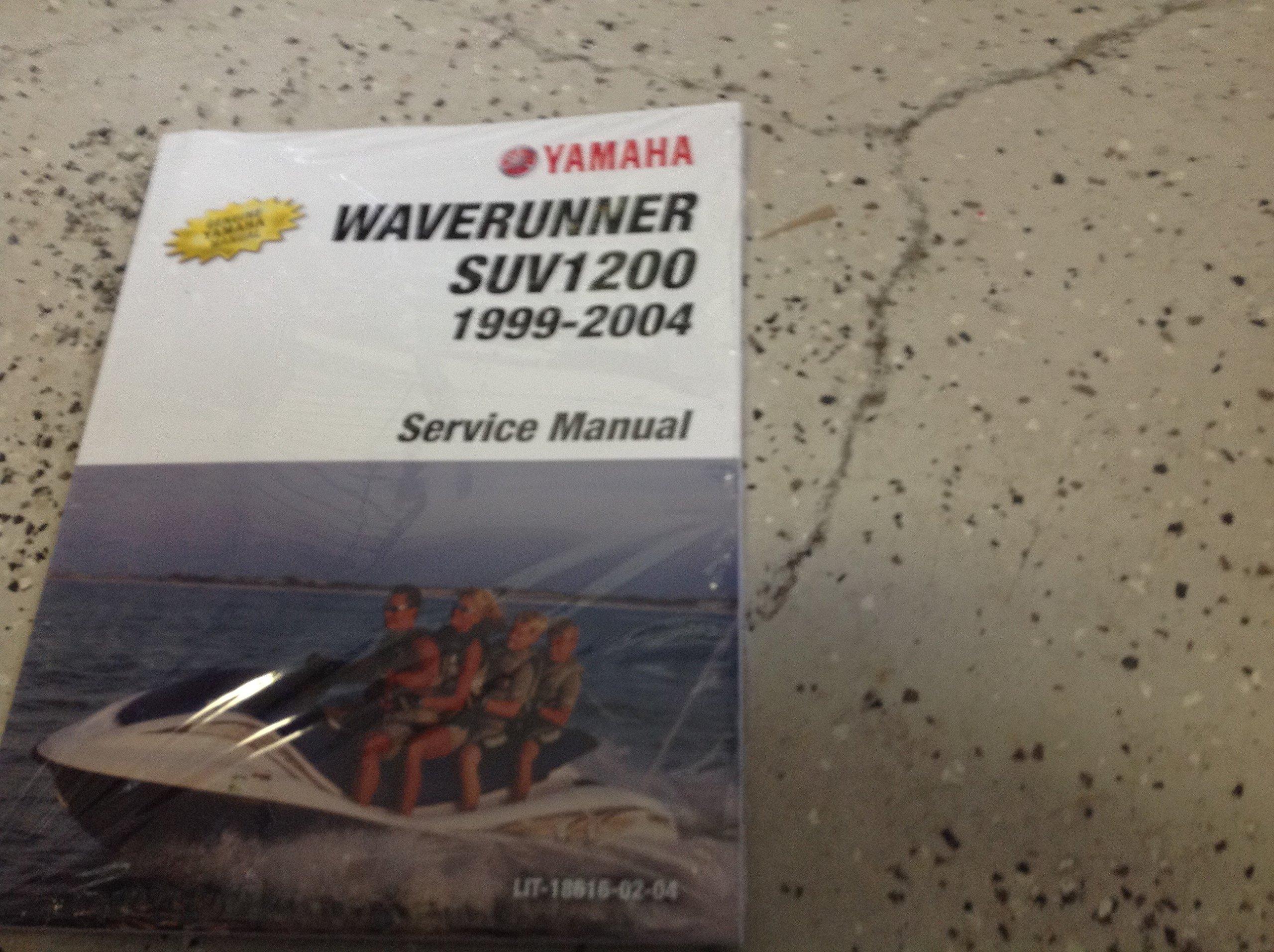 1999 2000 2001 2002 2003 2004 Yamaha Water Vehicle WaveRunner SUV SV1200  Service Shop Manual: YAMAHA: Amazon.com: Books