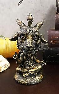 Ebros Whimsical Sabbatic Goat of Mendes Samael Lilith Baphomet Bobblehead Figurine LaVeyan Satanic Devil Baphomet Worship Lucifer The Caduceus Symbol Bobble Heads