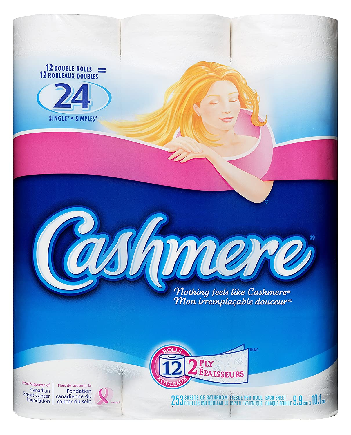 Cashmere Double Roll Bathroom Tissue, 2-ply, 253 Sheets per Roll ...