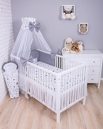 Amilian Baby Bettwäsche 7tlg Bettset Mit Nestchen Kinderbettwäsche