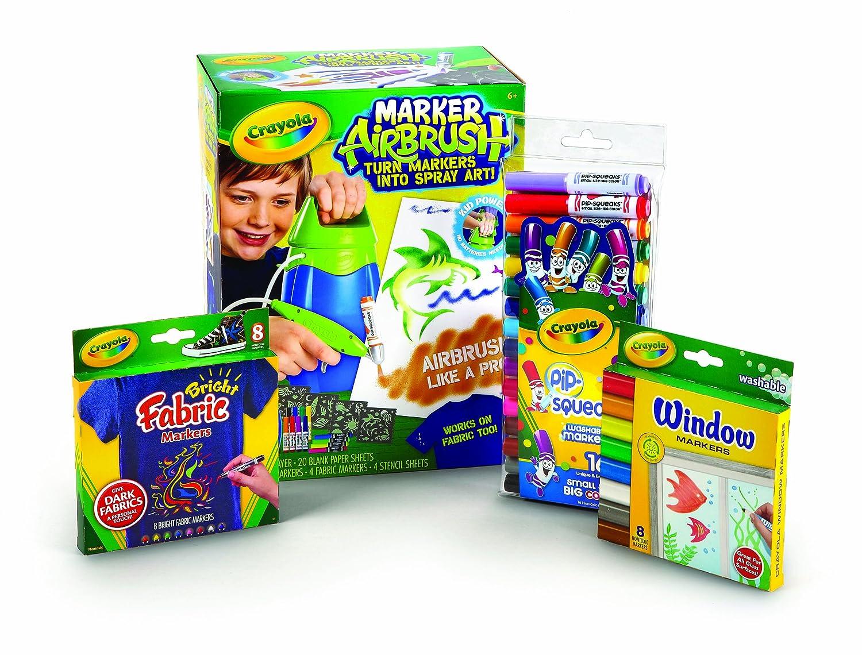 Crayola Marker Airbrush Sprayer Value Bundle Binney /& Smith 04-8800