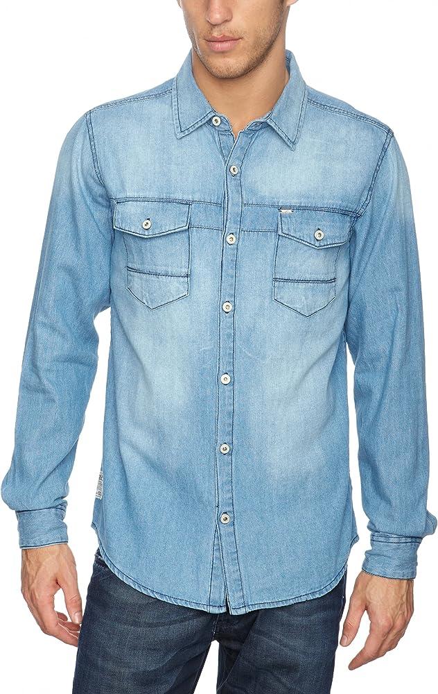 Rip Curl - Camisa de Manga Larga para Hombre, Talla 39/40, Color Hueso (Light Vintage B): Amazon.es: Ropa y accesorios