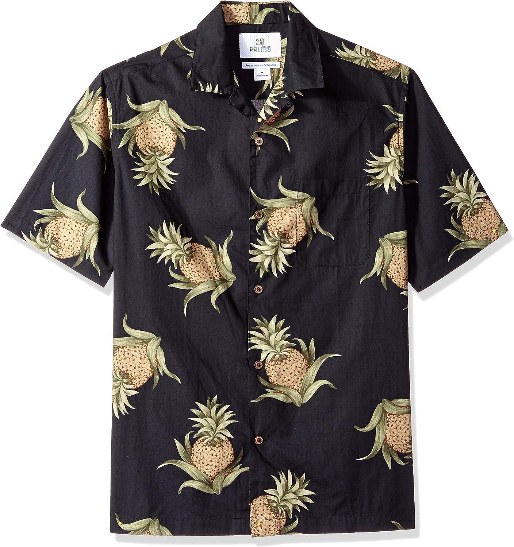 Amazon Brand - 28 Palms Men's Relaxed-fit 100% Cotton Holiday Christmas Hawaiian Shirt