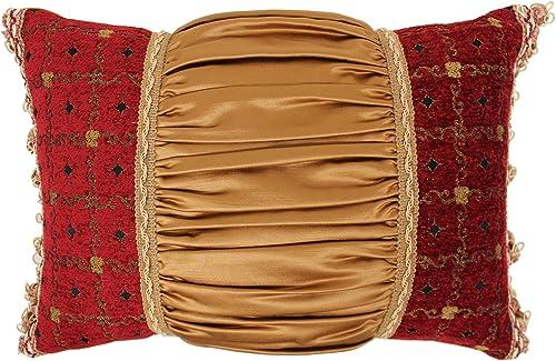 Austin Horn Classics Montecito Royale Boudoir Pillow, 13 x 19 , Red Gold