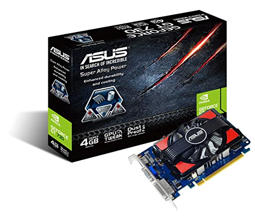 94 opinioni per Asus GeForce GT730-4GD3, 4 GB, 19.3 x 13 x 3 cm, Nero