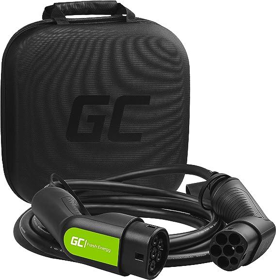 Green Cell Gc Type 2 Ladekabel Für Ev Elektroautos Phev 7 2kw 32a Typ 2 Auf Typ 2 5 Meter 1 Phase Kompatibel Mit E Golf Fortwo Eqc I3