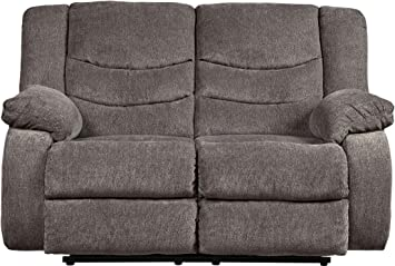 Wondrous Signature Design By Ashley Reclining Loveseat Gray Cjindustries Chair Design For Home Cjindustriesco