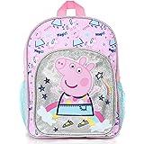 Peppa Pig Mochilas Escolares Juveniles | Mochila De Unicornios para Niñas con Purpurina Plateada Y Arco Iris | Bolso…