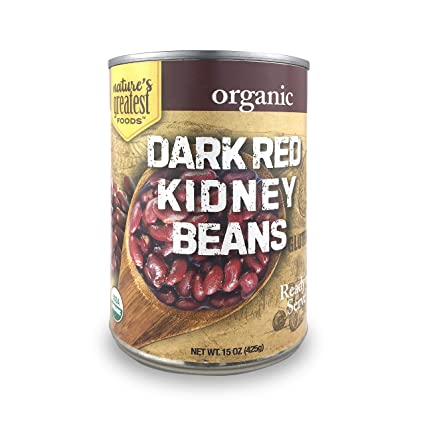 Amazon Com Nature S Greatest Foods Organic Dark Red Kidney Beans Vegan Gluten Free Ready To Serve 15 Ounce Pack Of 12 Grocery Gourmet Food