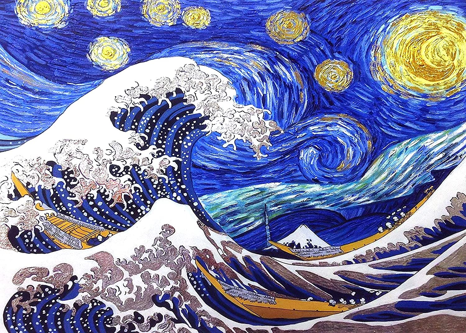5D Luminious Diamond Painting Kits for Adults Waves of The Sea Craft Home Wall Decor Rhinestone Diamond Starry Sky Accessories Handpaint Gift