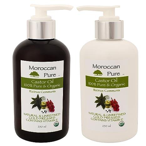 Puro Marroquí Orgánico Natural 100% aceite de ricino aceite de masaje y Humectante – 100
