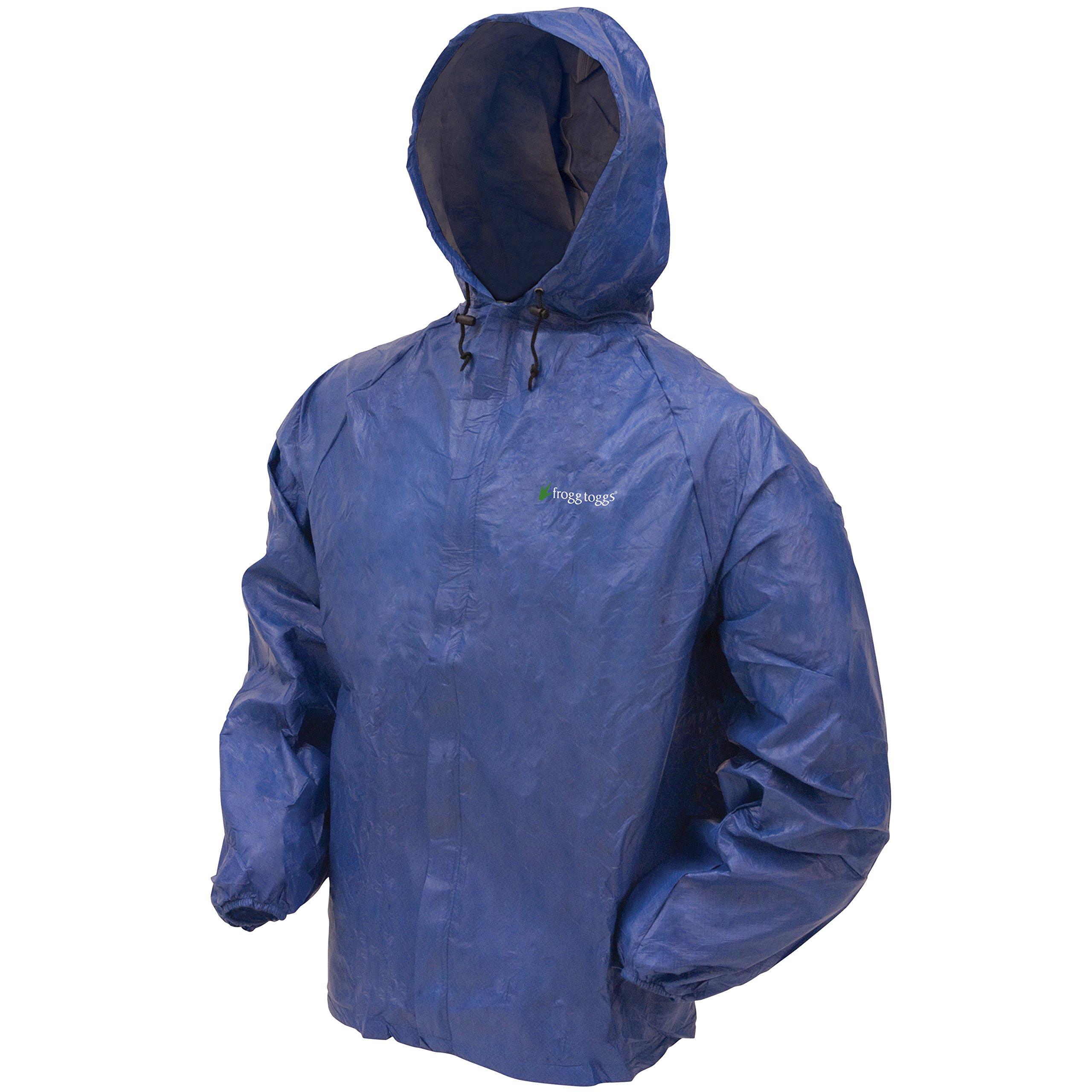 Frogg Toggs Ultra-Lite2 Rain Jacket, Blue, Size Small