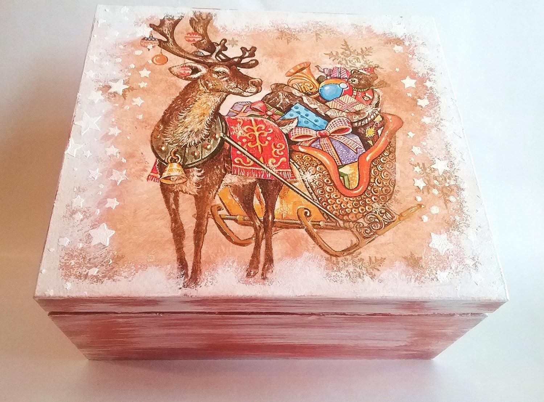 Christmas Box Christmas Gift Ideas Decorative Box Free Uk Delivery Amazon Co Uk Handmade