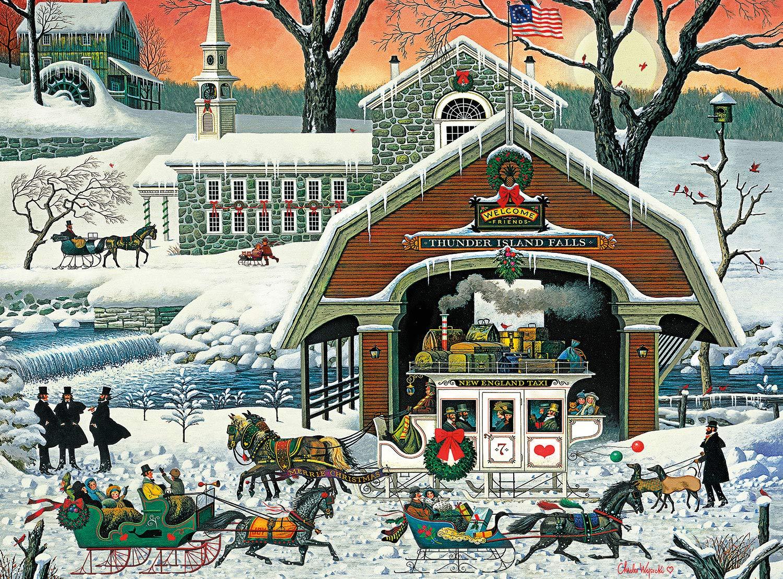 Buffalo Games - Charles Wysocki - TWAS' The Twilight Before Christmas - 1000 Piece Jigsaw Puzzle by Buffalo Games