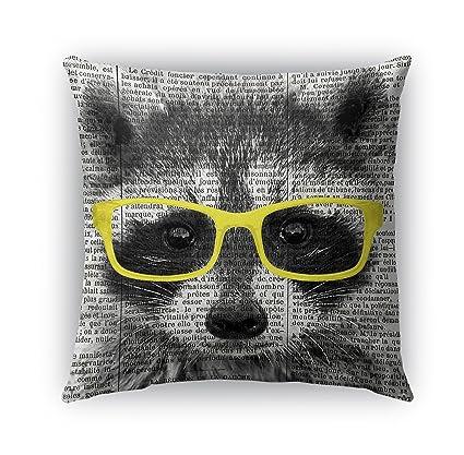 Amazon Com Kavka Designs Raccoon In Yellow Glasses Indoor Outdoor