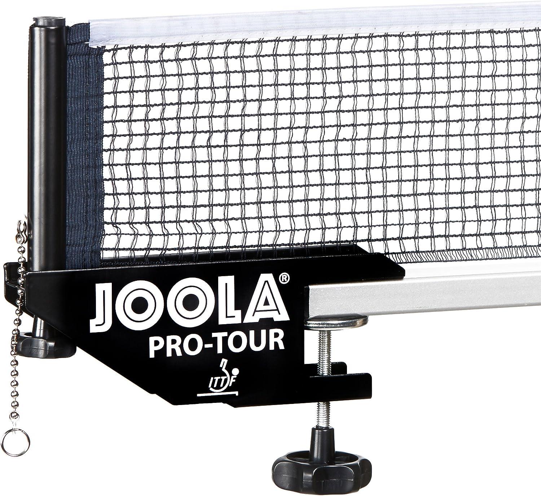 JOOLA Pro Tour-Wettkampf Indoor Red de Tenis de Mesa con autorización ITTF – Altura Regulable con Tornillo de Bloqueo, Unisex Adulto, Negro, 183 CM x 15,25 CM
