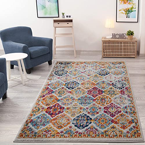 Ottomanson Rixos Collection Area Rug, 7 10 x 9 10 , Cream Orange