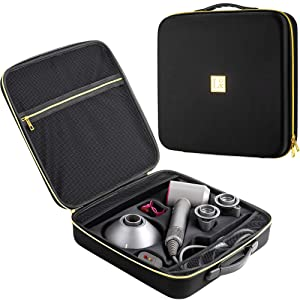 MLMD Lux Hair Dryer Case for Dyson Supersonic Hair Dryer – Stylish, Precise Fit, and Extra Storage Space for Accessories – Lightweight & Compact Carrier CaseBag for Travel –– Elegant Design