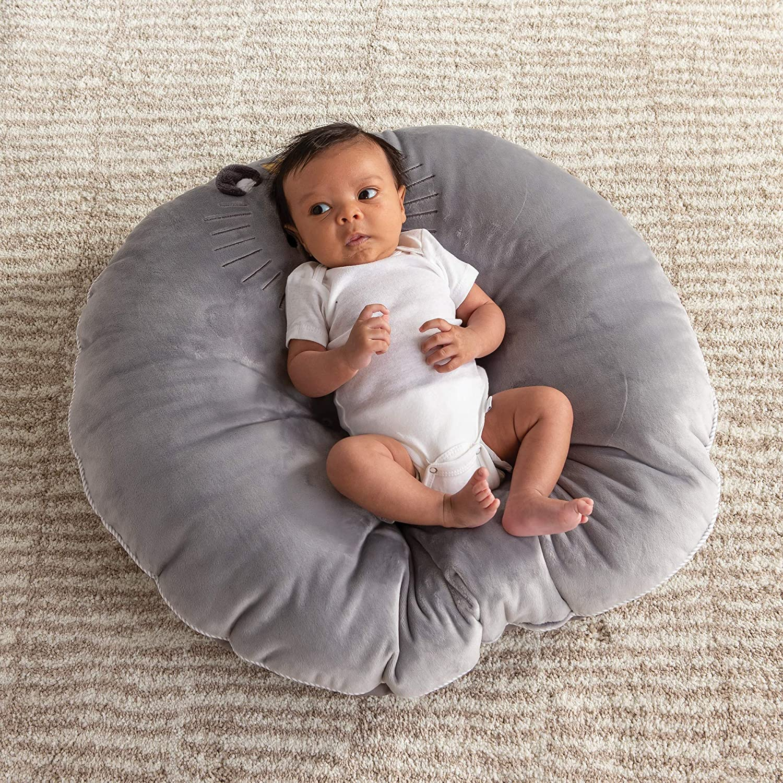 Boppy Preferred Newborn Lounger Gray Royal Lion