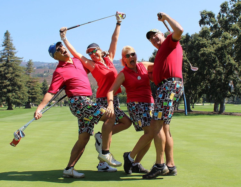 Loudmouth Golf-StretchTech Poly-John Daly Fun 4th of July Stars /& Stripes Mens Pant-Tour Slit at Bottom Hem