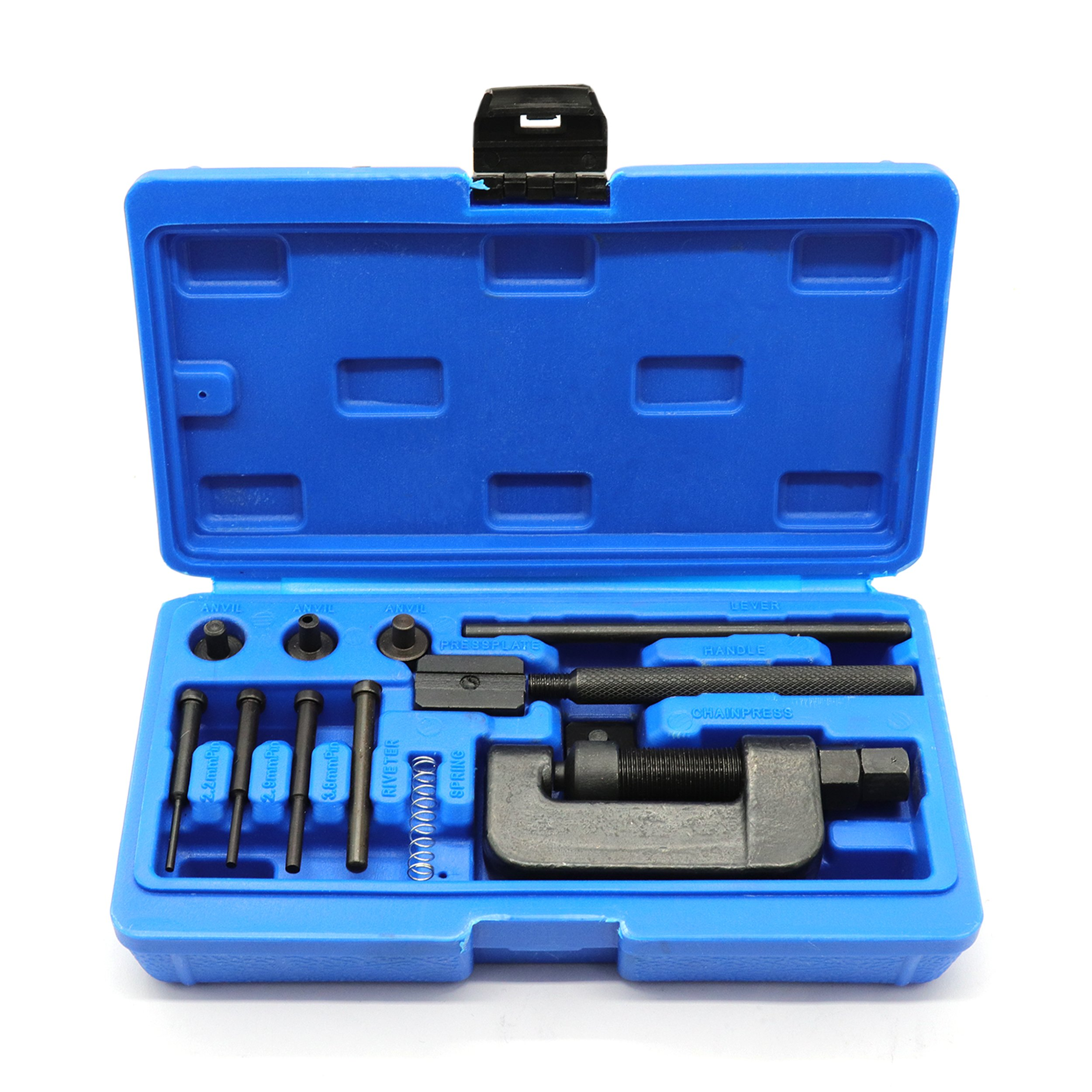 Motorcycle/ATV Cam Chain Breaker and Rivet Cutting Tool 13 Piece Set