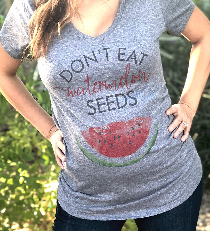 Baby Room Womens Maternity Short Sleeve Watermelon Printed Shirt