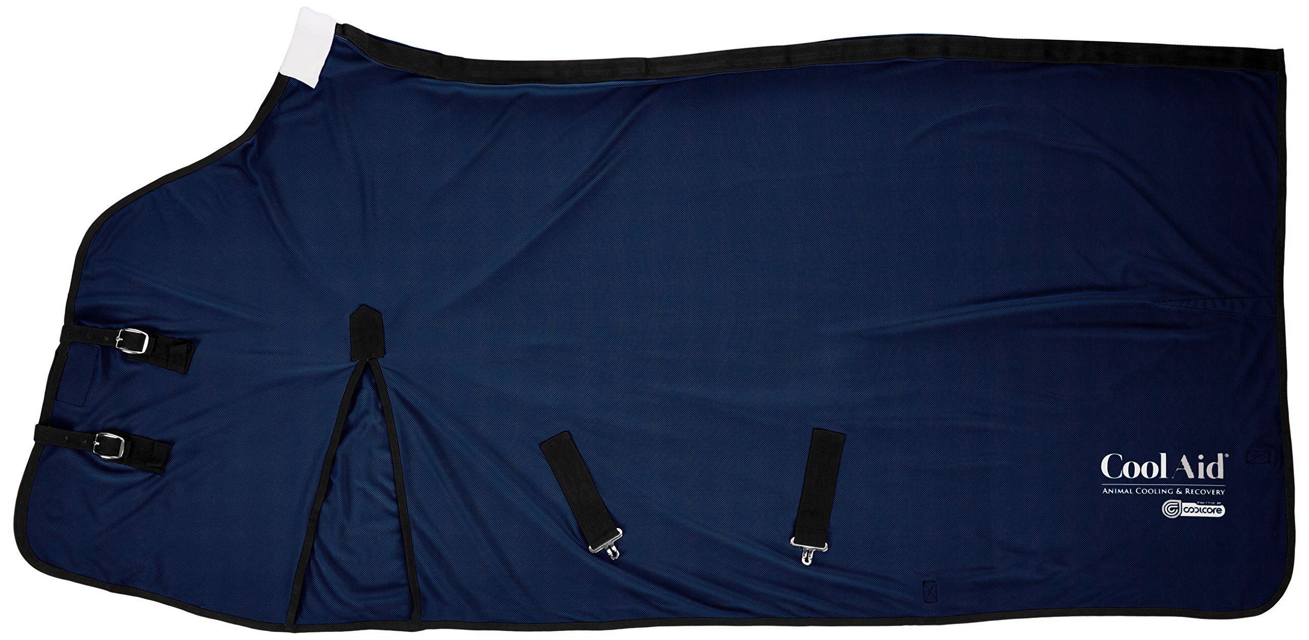 CoolAid Animal Cooling and Recovery Equine Cooling Blanket, Navy, Small