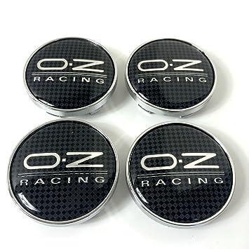 OZ Racing – Juego de 4 tapas para buje, 60 mm, efecto carbono, con logo de OZ Racing: Amazon.es: Coche y moto