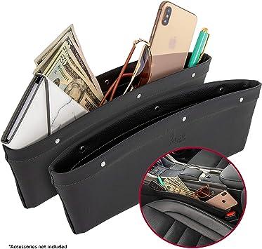 Front Seats Car Seat Gap Filler Storage Box Organizer Black/&Red Universal 1X