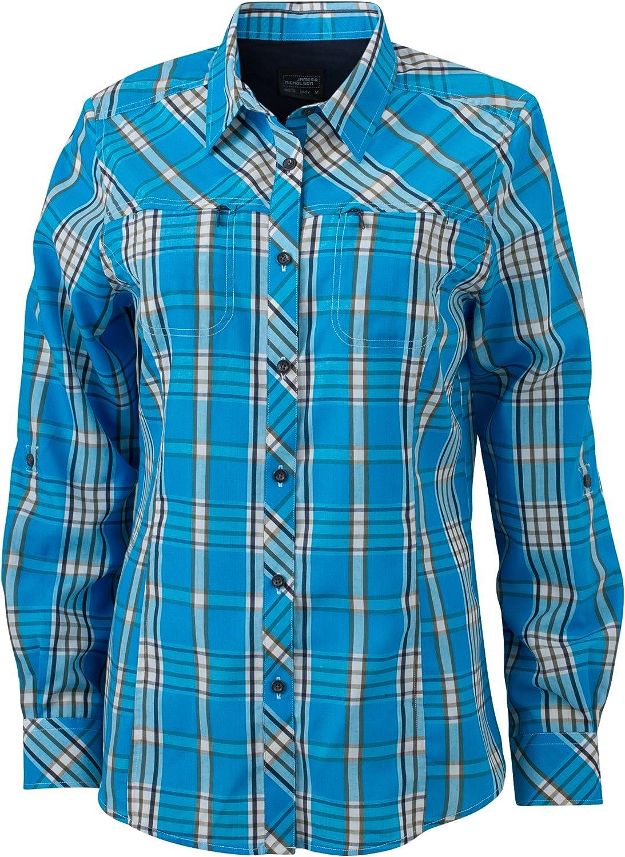 James & Nicholson Ladies UV-Protect Trekking Shirt Long-Sleeved Blusa para Mujer
