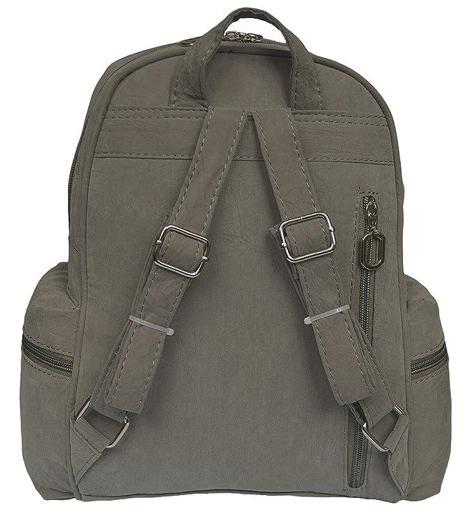 4632d89f16765 Sportlicher Leichter Damenrucksack 1425 (Graugrün)  Amazon.de  Schuhe    Handtaschen