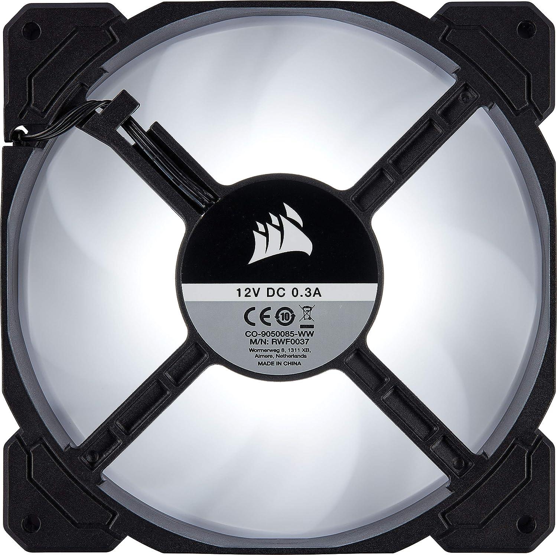 Corsair AF120 LED Quiet Edition 120mm Haut D/ébit LED Ventilateur de Boitier Dual Pack Rouge