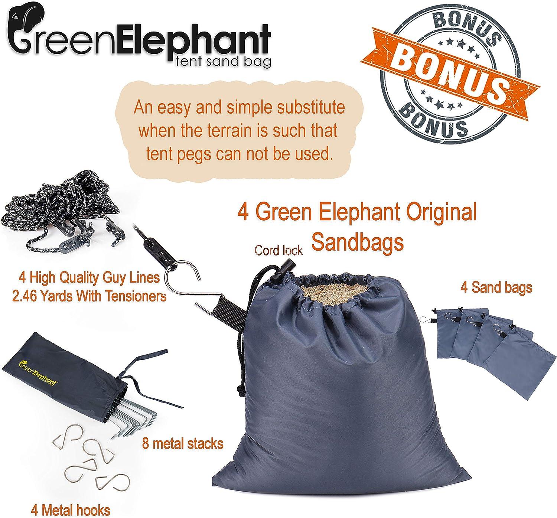 v/élo Plage et vestiaires Intimit/é Portable pour Camping Douche Tente spacieuse Green Elephant Pop Up Utilitent Toilettes