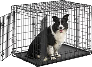 Ultima Pro (Professional Series & Most Durable MidWest Dog Crate) Extra-Strong Double Door Folding Metal Dog Crate w/ Divider Panel, Floor Protecting